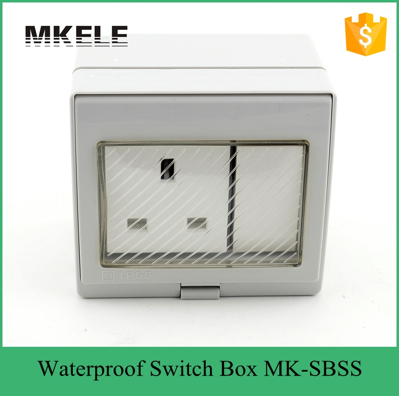 13a 250v Waterproof Push Button Switch Pvc Gang Box
