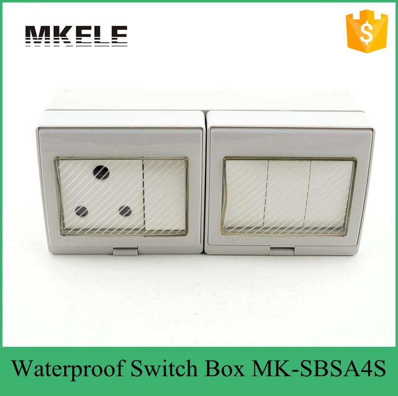 4 Gang Light Switch Socket 16a 250v Waterproof Box